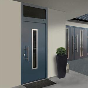 Entrance door matching with garage door