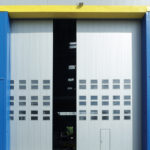 Industrial side sliding door