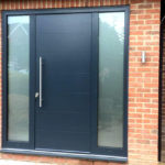 Front door with sidelights and cill profile
