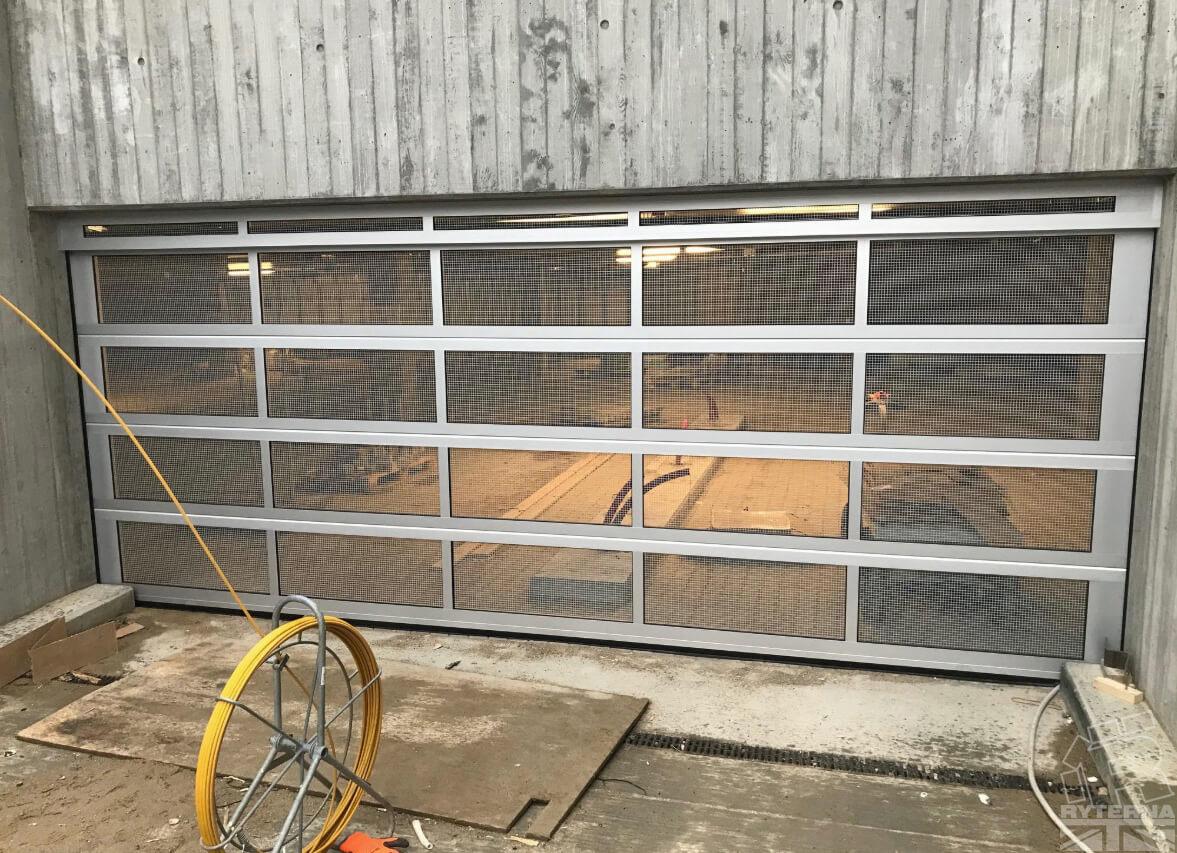Sectional Garage Door Ventilated For Parking Ryternagaragedoors Co Uk