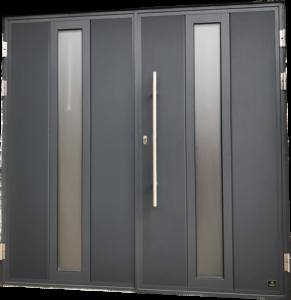 Side hinged garage door - 'Modern' design