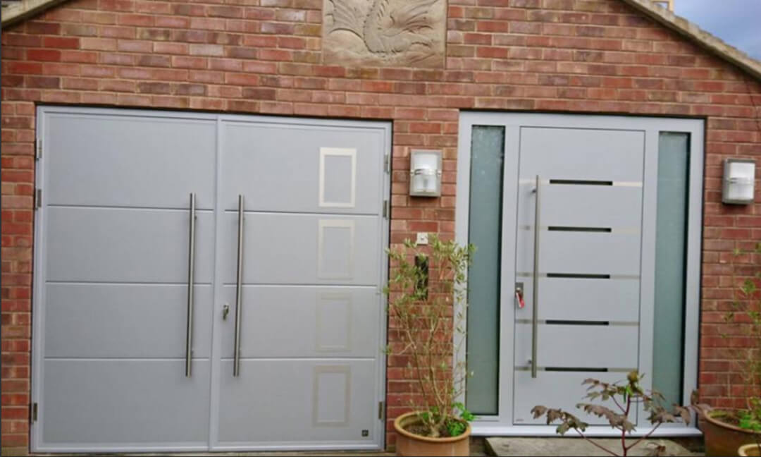 Front & garage door designs complementing each other