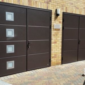 Pair of Side Hinged Garage Doors