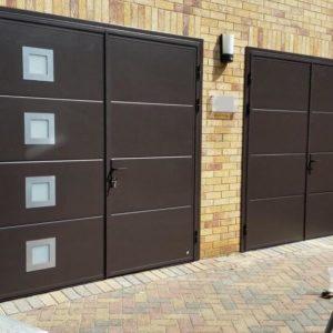 Pair of Side Hinged Garage Doors