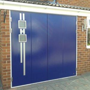 Side Hinged Garage Door -metallic finish