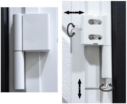 Adjustable hinges