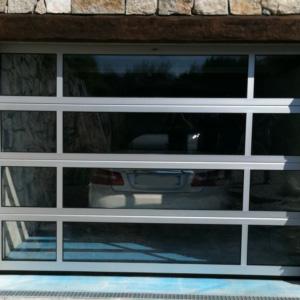 Glazed garage door