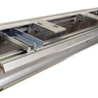 Guiding rail with lintel profile