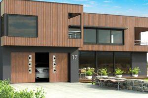 Bi-parting custom design sliding garage door