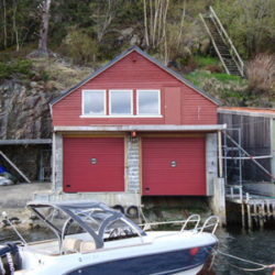 Boat garage door