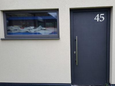 Door with house number