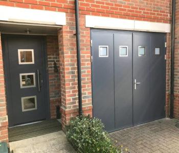 Matching design doors