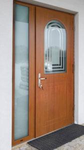 Ryterna front door with custom shape window