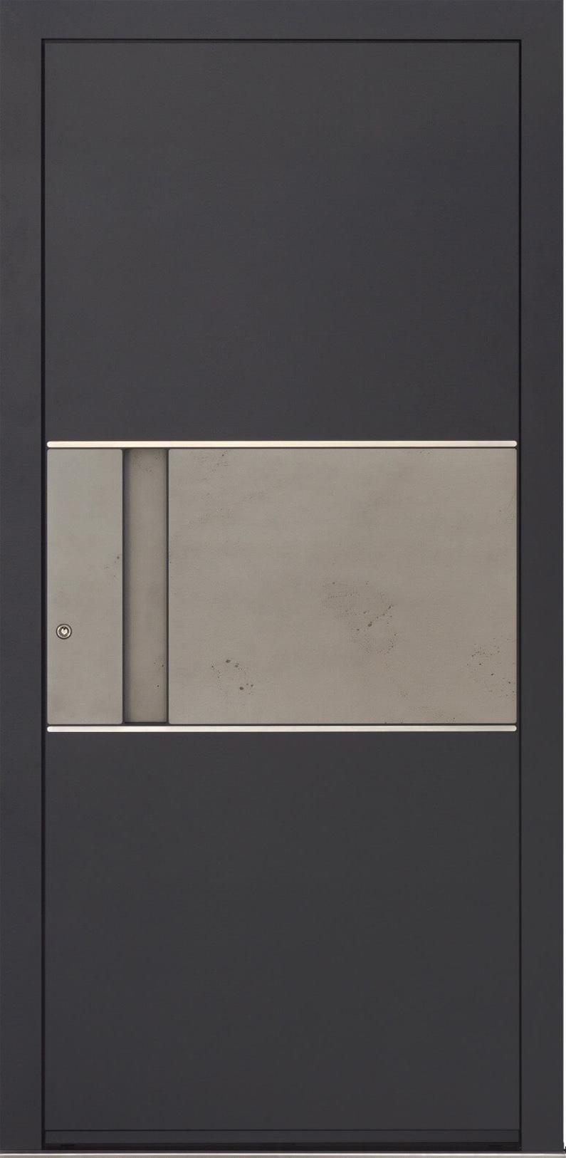 Ryterna front door with inlay handle & 'cement' panel