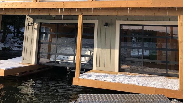 Summer cottage with boat garage