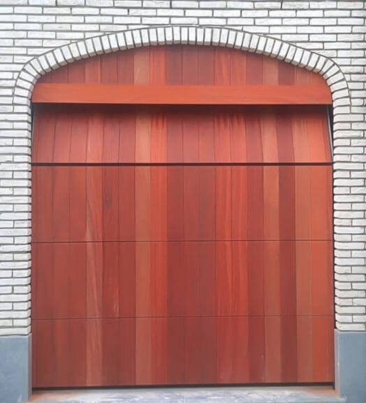 Heartwood timber for garage door cladding