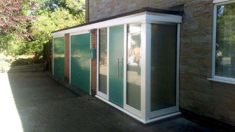 Front door & corner sidelights