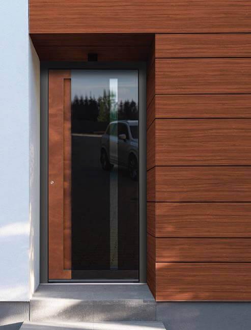 Front door with glass panel
