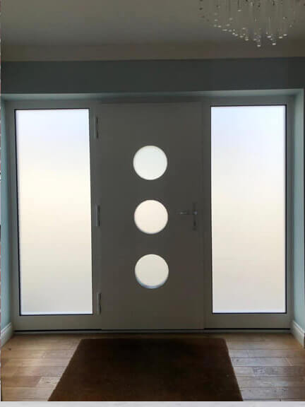 Front door with portholes & sidelights - inside view