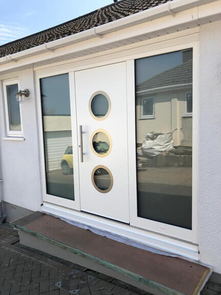 Front door with portholes &sidelights